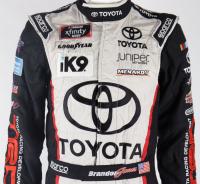 Brandon Jones Race-Used NASCAR Toyota Driver's Suit (JGR LOA & PA COA) at PristineAuction.com