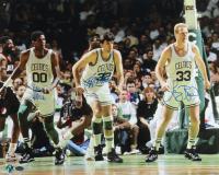 Larry Bird, Robert Parish & Kevin McHale Signed Celtics 16x20 Photo (Schwartz COA & Bird Hologram) at PristineAuction.com