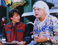 "Michael J. Fox & Christopher Lloyd Signed ""Back to the Future"" 11x14 Photo (JSA Hologram & PSA Hologram) (See Description) at PristineAuction.com"