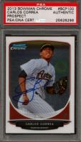 Carlos Correa Signed 2013 Bowman Chrome Prospects #BCP100 (PSA Encapsulated) at PristineAuction.com