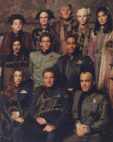 """Babylon 5"" 8x10 Photo Cast-Signed by (9) with Bruce Boxleitner, Claudia Christian, Jerry Doyle, Mira Furlan, Richard Biggs With Extensive Inscription (JSA ALOA) (See Description) at PristineAuction.com"
