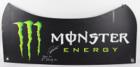"Ty Gibbs Signed Race-Used Monster Energy NASCAR Deck Lid Inscribed ""Daytona Win"" & ""1st Xfinity Win"" (JGR LOA & PA COA) at PristineAuction.com"