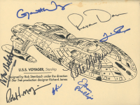 """Star Trek: Voyager"" 8x10 Print Cast-Signed by (8) with Kate Mulgrew, Ethan Phillips, Tim Russ, Robert Beltran, Roxann Dawson (JSA ALOA) at PristineAuction.com"