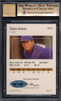 Clayton Kershaw 2006 Just Rookies 07 Preview Autographs Gold #7 (BGS 9.5) at PristineAuction.com