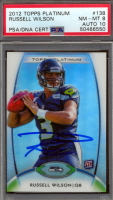 Russell Wilson Signed 2012 Topps Platinum #138 RC (PSA 8) at PristineAuction.com