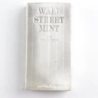 """Wall Street Mint"" 100 Troy Ounces .999 Fine Silver Bullion Bar at PristineAuction.com"