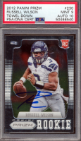 Russell Wilson Signed 2012 Panini Prizm #230B SP (PSA 9) at PristineAuction.com