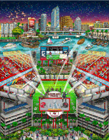 "Charles Fazzino Tampa Bay Buccaneers Champions ""Super Bowl LV"" 13.5x17.5 Artist Enhanced 3-D Pop Art Mixed Media Display (Museum Editions COA) at PristineAuction.com"