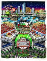 "Charles Fazzino Tampa Bay Buccaneers Champions ""Super Bowl LV"" 13.5x17.5 Artist Enhanced 3-D Pop Art Mixed Media Display (Museum Editions COA) at PristineAuction.com"
