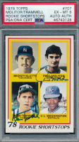 Paul Molitor & Alan Trammell Signed 1978 Topps #707 Rookie Shortstops (PSA 6) at PristineAuction.com