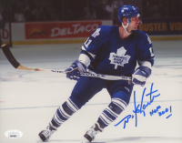 "Mike Gartner Signed Maple Leafs 8x10 Photo Inscribed ""HOF 2001"" (JSA COA) at PristineAuction.com"