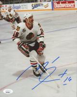 Michel Goulet Signed Blackhawks 8x10 Photo (JSA COA) at PristineAuction.com