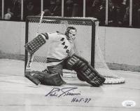 "Eddie Giacomin Signed Rangers 8x10 Photo Inscribed ""H.O.F - 87"" (JSA COA) at PristineAuction.com"