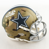 Emmitt Smith Signed Cowboys Camo Alternate Speed Mini-Helmet (Prova Hologram) at PristineAuction.com