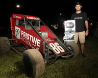 """Kyle Larson Signed 2020 Indiana Midget Week Champion Exclusive Full-Size Helmet Inscribed """"Yung Money"""" (PA COA) at PristineAuction.com"""