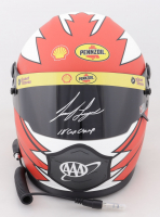 "Joey Logano Signed NASCAR Shell-Pennzoil Full-Size Helmet Inscribed ""'18 Cup Champ"" (PA COA) at PristineAuction.com"