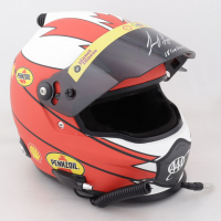 """Joey Logano Signed NASCAR Shell-Pennzoil Full-Size Helmet Inscribed """"'18 Cup Champ"""" (PA COA) at PristineAuction.com"""
