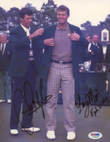 Sandy Lyle & Larry Mize Signed 8x10 Photo (PSA COA) at PristineAuction.com