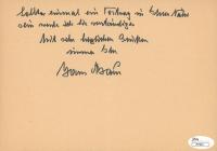 Hans Baur Signed Hand-Written Letter (JSA COA) at PristineAuction.com