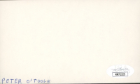 Peter O'Toole Signed 3x5 Cut (JSA COA) at PristineAuction.com