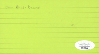 John Rhys-Davies Signed 3x5 Cut (JSA COA) at PristineAuction.com
