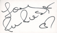 """Rene Russo Signed 3x5 Cut Inscribed """"Love"""" (JSA COA) at PristineAuction.com"""
