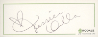 Jessica Alba Signed 2x5 Cut (JSA COA) at PristineAuction.com