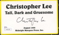 Christopher Lee Signed 3x5 Cut (JSA COA) at PristineAuction.com