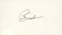 Phil Jackson Signed 3x5 Cut (JSA COA) at PristineAuction.com