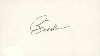 Phil Jackson Signed 3x5 Cut (JSA COA) at PristineAuction.com