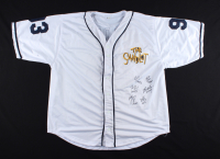 """""""The Sandlot"""" Baseball Jersey Cast-Signed by (6) with Tom Guiry, Chauncey Leopardi, Marty York With (6) Character Inscriptions (Beckett COA) at PristineAuction.com"""