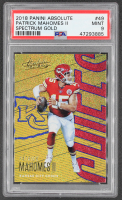Patrick Mahomes II 2018 Absolute Spectrum Gold #49 (PSA 9) at PristineAuction.com