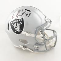 Bill Romanowski Signed Raiders Full-Size Speed Helmet (Beckett COA) (See Description) at PristineAuction.com