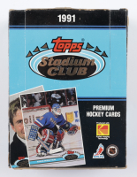 1991 Topps Stadium Club Hockey Box with (36) Packs (See Description) at PristineAuction.com