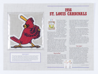 1956 Cardinals 9.5x12.75 Display with Patch at PristineAuction.com