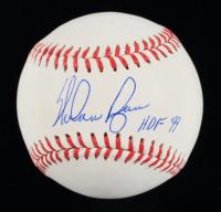 """Nolan Ryan Signed OML Baseball Inscribed """"HOF '99"""" (JSA COA & Steiner Hologram) (See Description) at PristineAuction.com"""