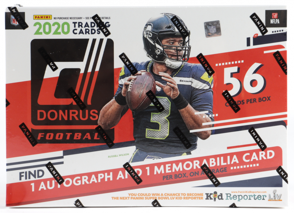 2020 Panini Donruss Football Mega Box with (56) Cards at PristineAuction.com