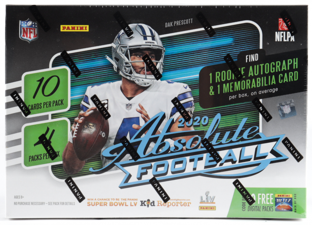2020 Panini Absolute Football Mega Box (40 Cards) with (4) Packs at PristineAuction.com