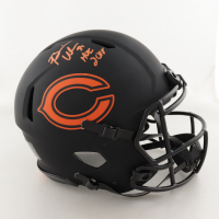 """Brian Urlacher Signed Bears Full-Size Authentic On-Field Eclipse Alternate Speed Helmet Inscribed """"HOF 2018"""" (Beckett COA) (See Description) at PristineAuction.com"""