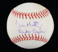 "Don Mattingly Signed OML Baseball Inscribed ""Yankee Captain"" (JSA COA & MLB Hologram) (See Description) at PristineAuction.com"