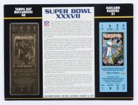 Super Bowl XXXVII Champions 9.5x12 Ticket Display at PristineAuction.com