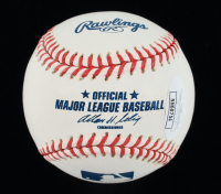 """Darryl Strawberry Signed OML Baseball Inscribed """"96 W.S. Champs"""" (JSA COA) at PristineAuction.com"""