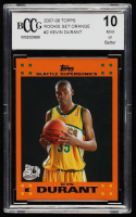 Kevin Durant 2007-08 Topps Rookie Set Orange #2 (BCCG 10) at PristineAuction.com