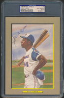 Hank Aaron Signed 1985 Perez-Steele Great Moments #9 (PSA Encapsulated) at PristineAuction.com