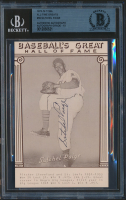 Satchel Paige Signed 1977 Baseball's Great Hall of Fame Exhibits (BGS Encapsulated) at PristineAuction.com