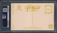 Mickey Mantle Signed LE 1981 Perez-Steele Hall of Fame Postcards #145 (PSA Encapsulated) at PristineAuction.com