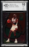Michael Jordan 1993-94 Ultra Power In The Key #2 (BCCG 10) at PristineAuction.com