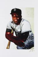 Jackie Robinson - Dodgers - Joshua Barton 12x18 Signed Limited Edition Lithograph #/250 (PA COA) at PristineAuction.com