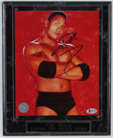 Dwayne Johnson Signed WWE 10x13 Custom Plaque Photo Display (Beckett COA) (See Description) at PristineAuction.com