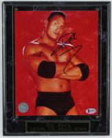Dwayne Johnson Signed WWE 10x13 Custom Plaque Photo Display (Beckett COA) (See Description) at PristineAuction.com